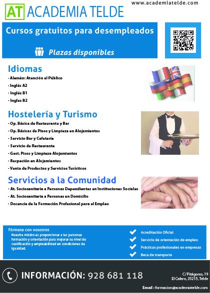 cursos gratuitos para desempleados y ocupados hosteler a